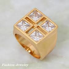 popular cheap gold rings for men buy cheap cheap gold design unique design luxury ring white cubic zirconia gold