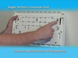 hager surface consumer unit installation guide youtube