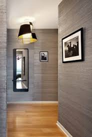 Wallpaper Interior Design by Gunmetal Grey Glitter Wallpaper Featured On A Chimney Breast Wall