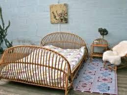 chambre en rotin lit en rotin vintage par retour de chine