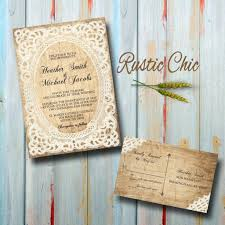 country chic wedding invitations custom country wedding invitations with rsvp rustic chic weddin