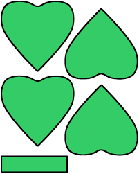 4 leaf clover template four leaf clover shamrock paper craft color template