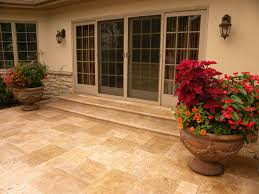 Travertine Patio Rurode Residence Smalls Landscapingsmalls Landscaping