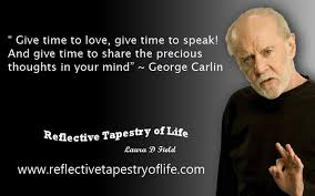 a lesson in an observation by george carlin reflective