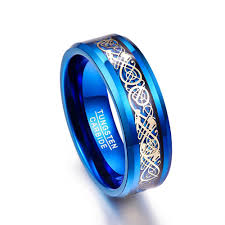 blue tungsten rings images Men 39 s 8mm blue tungsten carbide ring amazingheights jpg