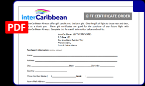 travel gift certificates intercaribbean gift certificates