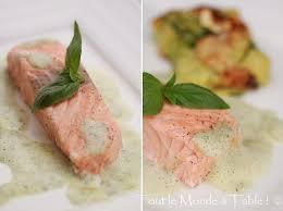 cuisiner saumon congelé saumon vapeur écume de basilic tout le monde à table