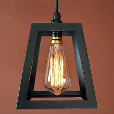 Pendant Light Chandelier French Country Black Iron Frame Light Lantern Pendant Lamp