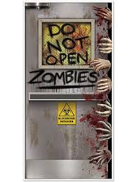 zombies lab door cover decoration decorations