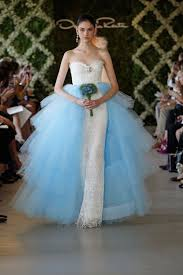 blue wedding dress designer designer wedding dresses wedding gowns and bridal wear from oscar
