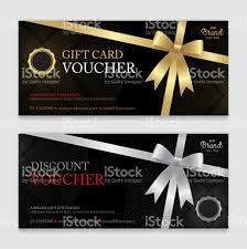 gift card discount gift voucher certificate or discount card template for promo