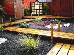simple landscaping ideas cheap no grass garden and patio narrow