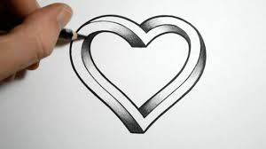 simple pencil drawing images of heart drawing a simple tribal