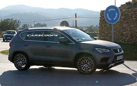 seat ateca black seat ateca cupra spotted on public roads completely undisguised