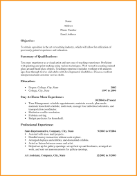 Resume Templates For No Job Experience 9 Resume For Stay At Home Mom With No Work Experience Bird