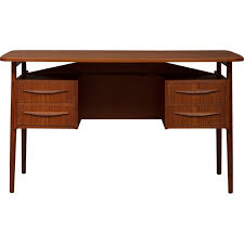 Small Teak Desk Small Teak Desk By Luno Mobler 1960s Design Market