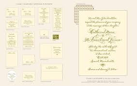 Direction Cards For Wedding Invitations Classic Calligraphy Letterpress Wedding Invitations