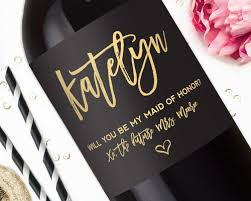 bridesmaid gift wine label gorgeous gold studio b labels - Will You Be My Bridesmaid Wine Labels