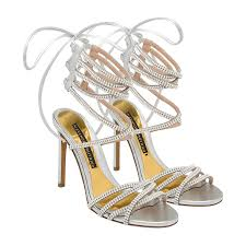 alexandre vauthier silver josephine embellished sandals for women