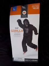 Bigfoot Halloween Costume Kids Kids Gorilla Costume Ebay