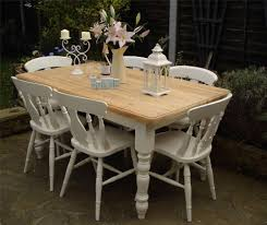 shabby chic country farmhouse pine table and 6 chairs laura ashley