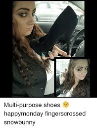 Fingers Crossed Meme - h multi purpose shoes happymonday fingerscrossed snowbunny meme