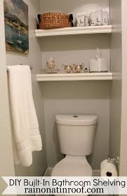 bathroom unique recessed bathroom storage shelves over toilet