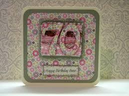 70th birthday card the handmade card blog
