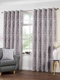 camden lined eyelet curtains in silver free uk delivery terrys