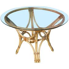 glass top for table round restored rattan bentwood dining table with round glass top for sale
