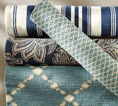 Blue Outdoor Rugs Basic Recycled Yarn Indoor Outdoor Rug Blue Pottery Barn