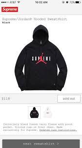 supreme black supreme jordan hoodie size m sweatshirts u0026 hoodies