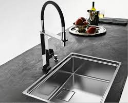 Stainless Steel Faucets Kitchen by Astounding Rectangle Shape White Cast Iron Kitchen Sink Features