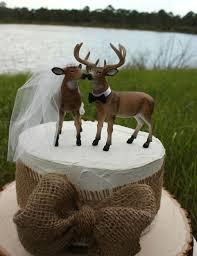 camouflage wedding deer hunter wedding cake topper deer lover deer