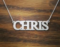 my name jewelry chris name jewelry etsy