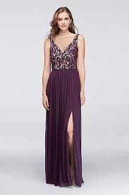 purple lace bridesmaid dresses lace bridesmaid dresses in various styles david s bridal