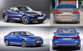 audi a3 vs bmw 3 series all 2016 audi a4 b9 vs bmw 3 series f30 lci