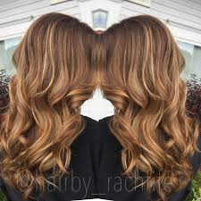 warm honey caramel blonde hair custom color hair by rachel fife