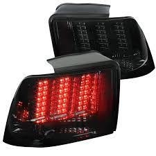 mustang led tail lights ford mustang chrome smoke sequential led tail lights brake ls