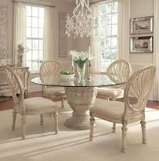 glass top tables dining room schnadig empire ii 5 piece round pedestal glass top table and oval