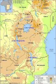 africa map elevation east africa map