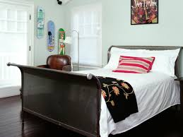 furniture bedding with sleigh bed and floor lamp also window