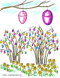 easter egg tree make an easter egg tree celebrate fred gonsowski garden