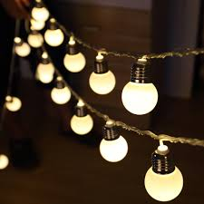 aa battery light bulb 4 meter 20 led round bulbs string light portable aa battery
