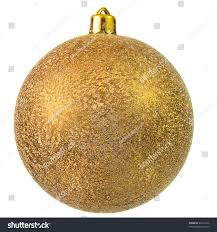 gold christmas ball christmas ornament isolated stock photo