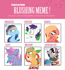 Blushing Meme - m6 next gen blushing meme by superrosey16 on deviantart