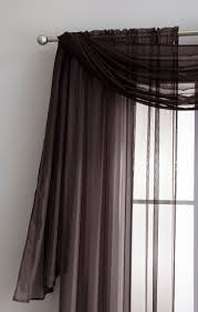 warm home designs chocolate window scarf sheer chocolate curtains