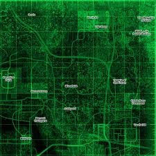 Fallout 2 Map by Fallout 3 Basic Locales Map Sector 2