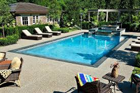 sand exposed aggregate concrete pool traditional with swimming