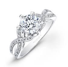 bridal set 18k white gold split twist shank diamond bridal se